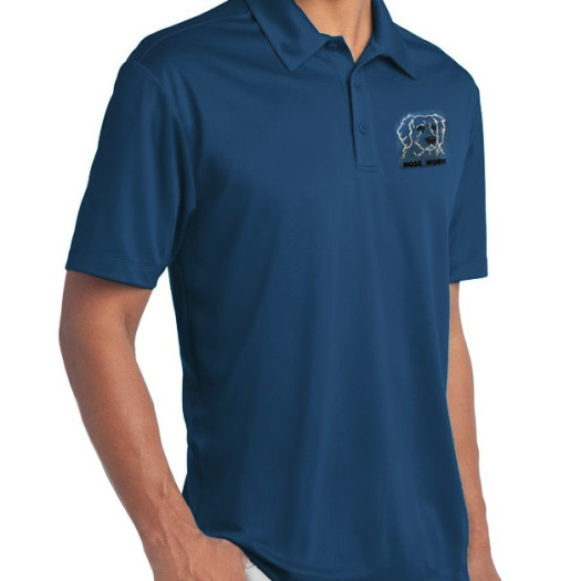 Polo shirt embroidered with choice of breed sport logo